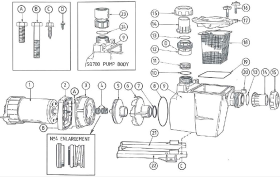 Parts For Quietline Sqi Pm Series Pumps Pool Products Direct
