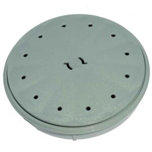 Deck lid and Dressing ring – Grey Round